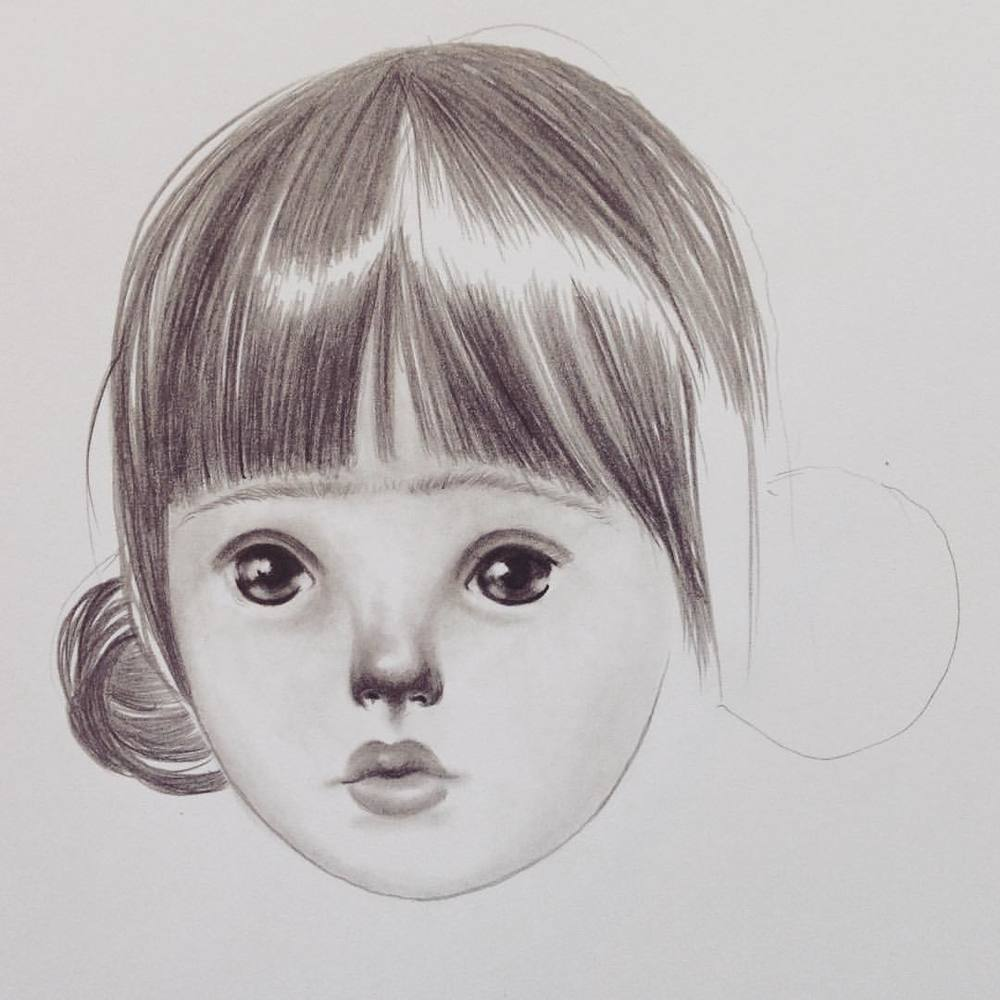 The best part of a day's end, is that everything is new tomorrow.. Pure sweet innocence #lolagil #sketch