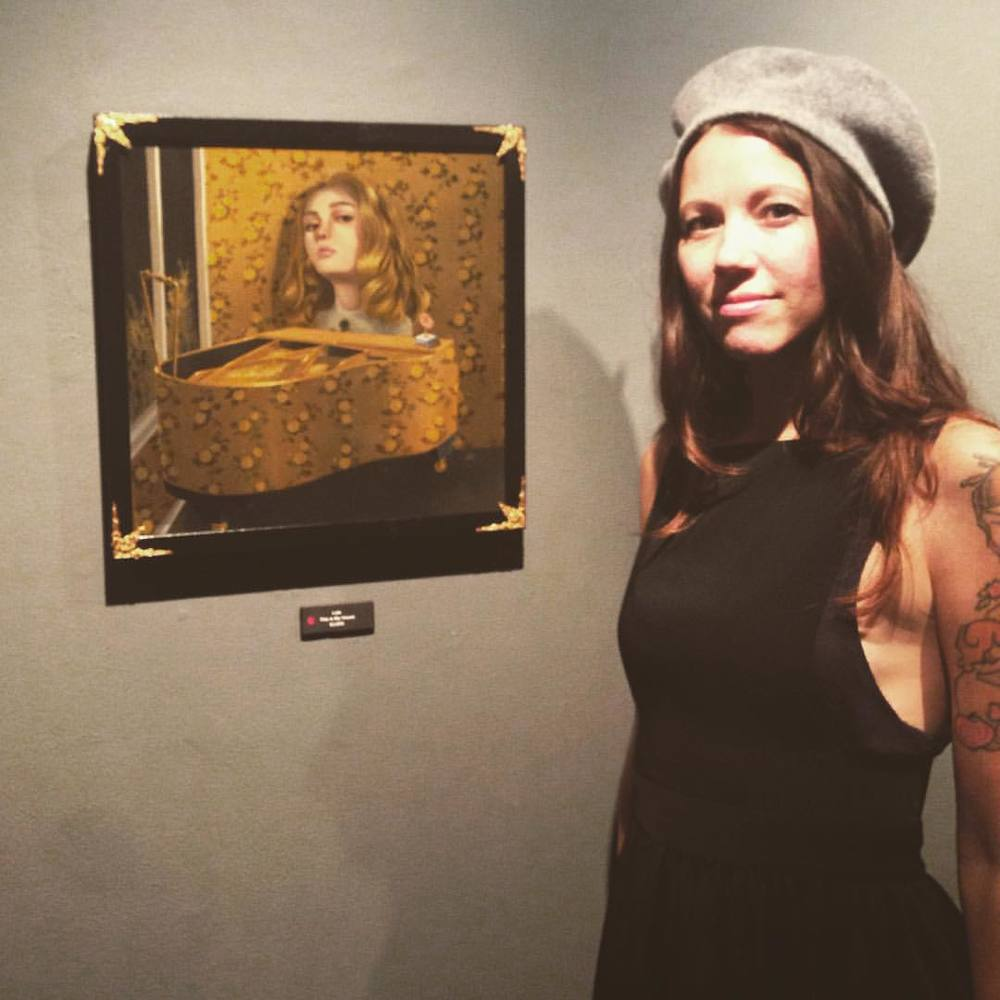 With my painting, Nerd #thisishome thanks @coprogallery #lolagil #coprogallery