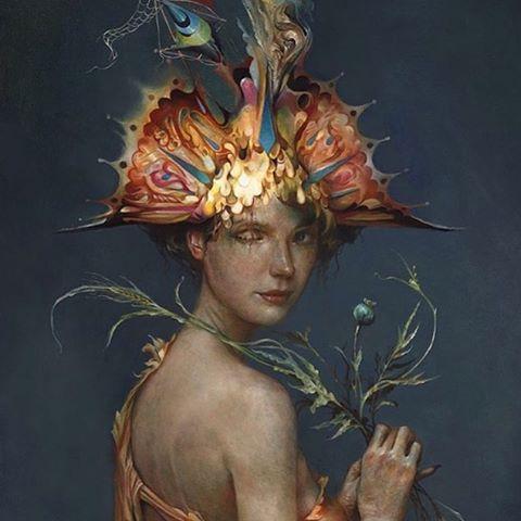 Also tonight my comrade @esao ( who's paintings are hauntingly beautiful storytales ) along with the supreme talents of @aaronhorkey and @feral_kid have an opening which can't be missed at @thinkspace_art .. Really looking forward to tonight's delights 🎨🎨🎨