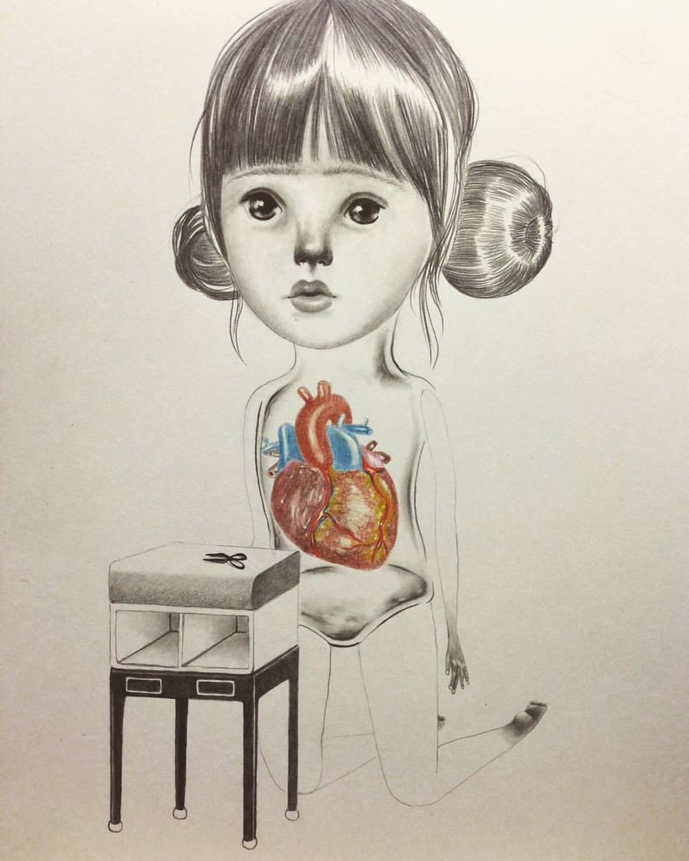 A sketch I did at the beginning of this year, really capturing my mood lately #wbw #lolagil ❤️ #trueheart