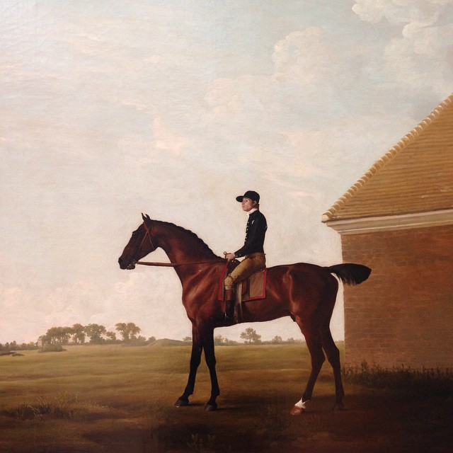 Seeing as I'm alone in NY today, I decided to spend a little extra time with George Stubbs. I'm not sure exactly why it is I'm so compelled to his work. Maybe the vast open spaces he creates. Or his love and attention to the horses he paints. I first saw his work in a very very old estate house in England.. And simply felt I was there for a moment. He is wonderful, that's all I can say.. #georgestubbs #themetmuseum