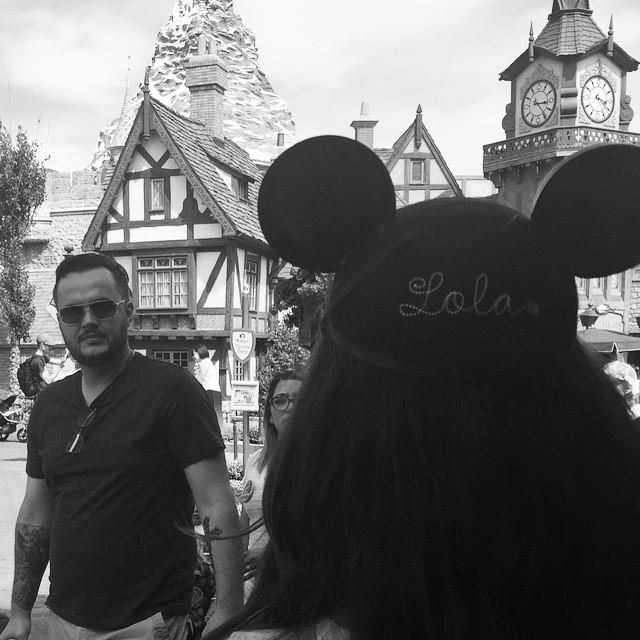 Disneyland today, with Leo and @brandimilne