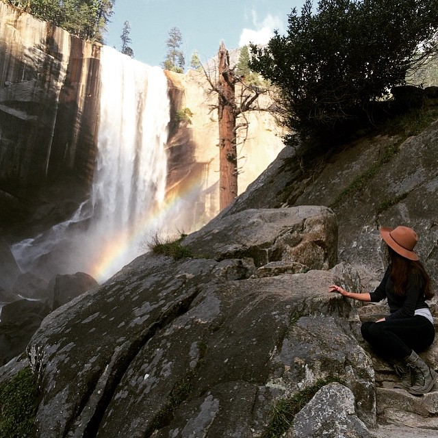 In heaven here, #regram from the sweetest @bobby_lamps #Yosemite #overtherainbow