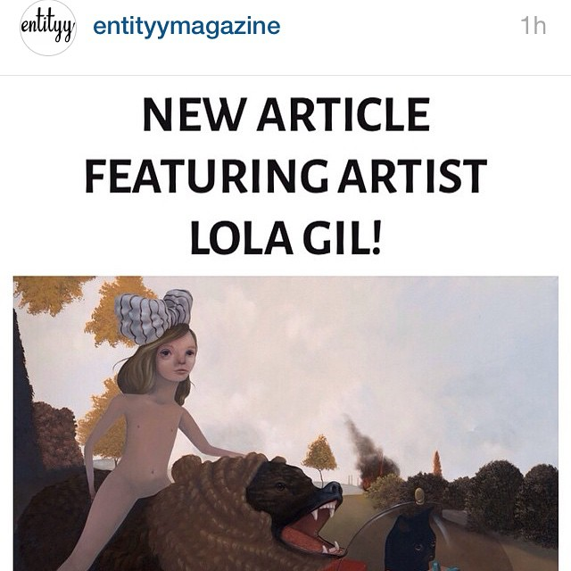 If you like artist interviews, head over to @entityymagazine and you can read about some of my thoughts and process #entitymagazine Cheers guys! #lolagil