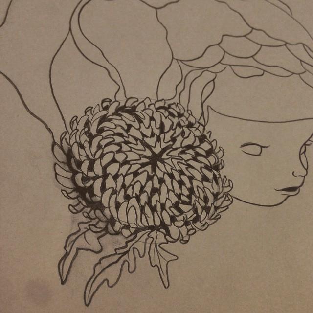 Blooming #preliminerysketch