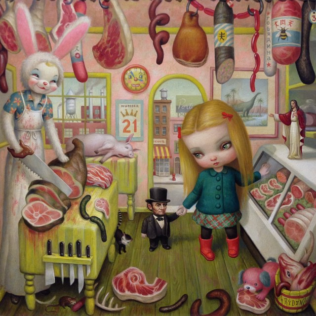 Mark Ryden ..This ones for you @glassofwhiskey @laurenpaul8 ⚡️⚡️