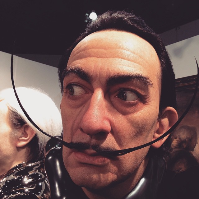 Kazu is magic! Wonderful to see in person @coprogallery booth #dali