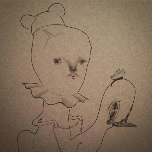 Drew my first mustachio #mustache #donaldsinbed #doodles