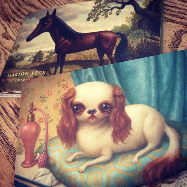 Love these beautiful postcards from @marionpeck Thank you @hifructosemag 😘