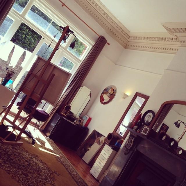 😔 my beautiful bright sunny British studio.. Really going to miss this #movin #juxstudio
