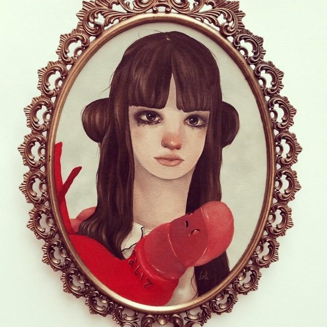 """Yesterday's Tears"" available tomorrow June 12-15 through @coatesandscarry at AAFLondon #lolafineart #aaflondon #coatesandscarry #oils"