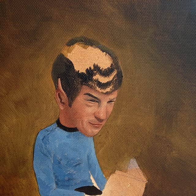 Time to finesse this gentleman some more #Spock #wip #lolafineart #massiverotation
