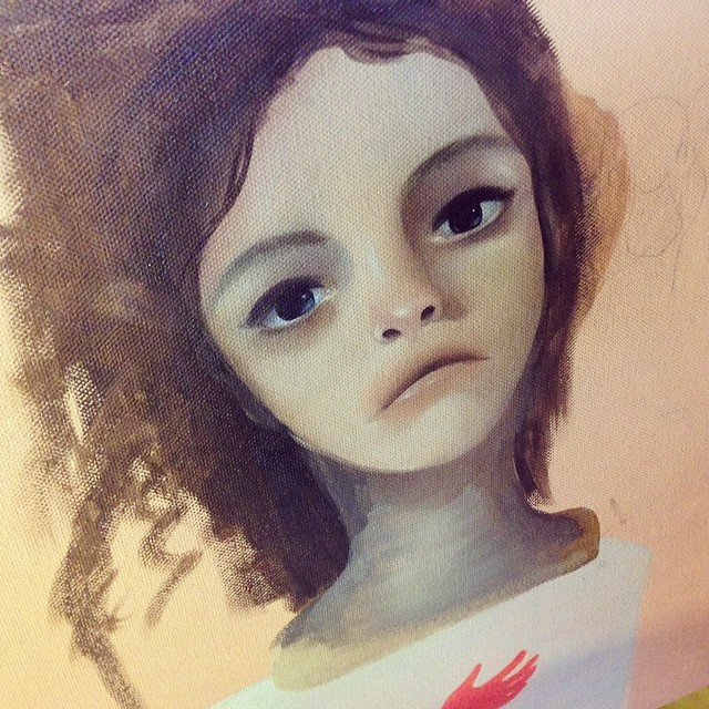 Being soft #wip #lolafineart