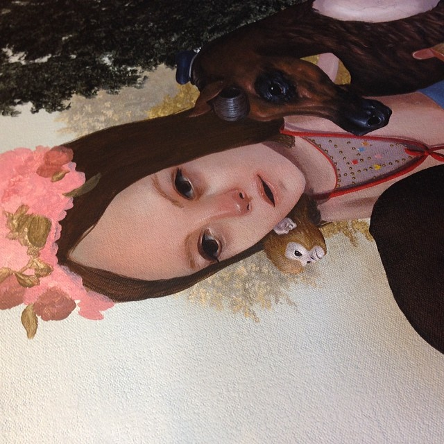 Some more sneaky work in progress on the painting going to Corey Helford Gallery next month #wip #lolafineart