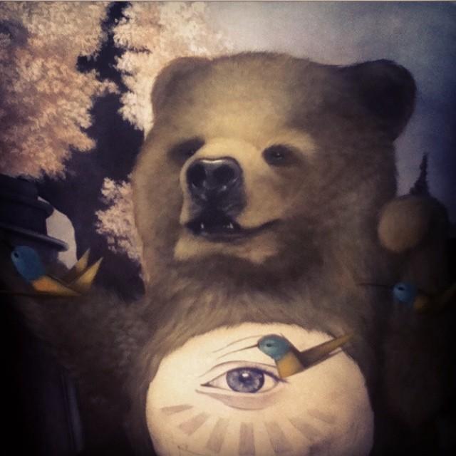 I need to paint another bear #bearhugs #tbt #lolafineart