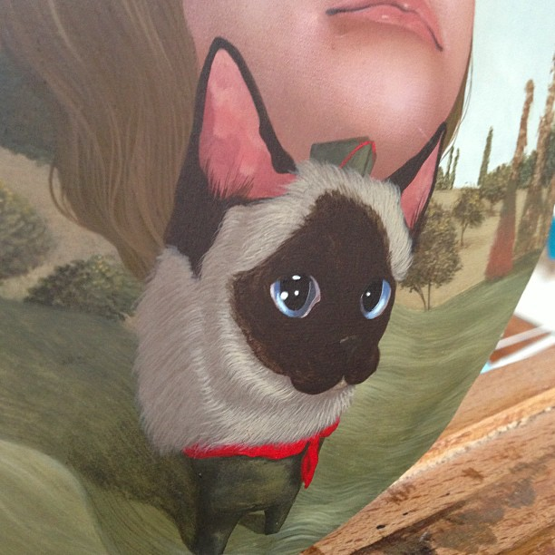 Cat fur Friday! This guy is starting to get his winter coat #wip #boyscouts #lolafineart #painting