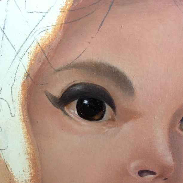 These eyes, they do sparkle #wip #lolafineart #eyes #oils
