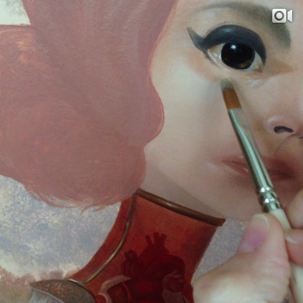 WIP on something coming with me to LA in July #oils #wip #lolafineart #coreyhelfordgallery