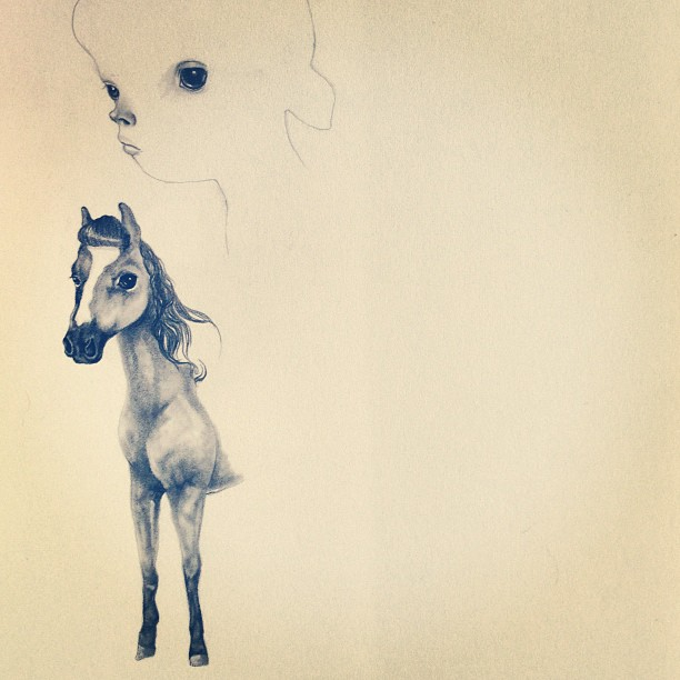 Sunday sketch #sketch #sunday #lolafineart #horses #ireallylovehorses #really