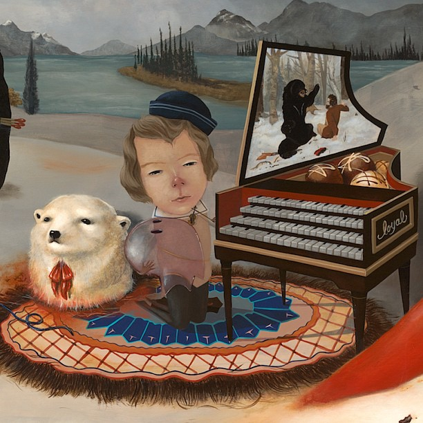 Bears and ghosts and of course a harpsichord filled with chocolate #brandimilne #lolafineart #bigbig @brandimilne