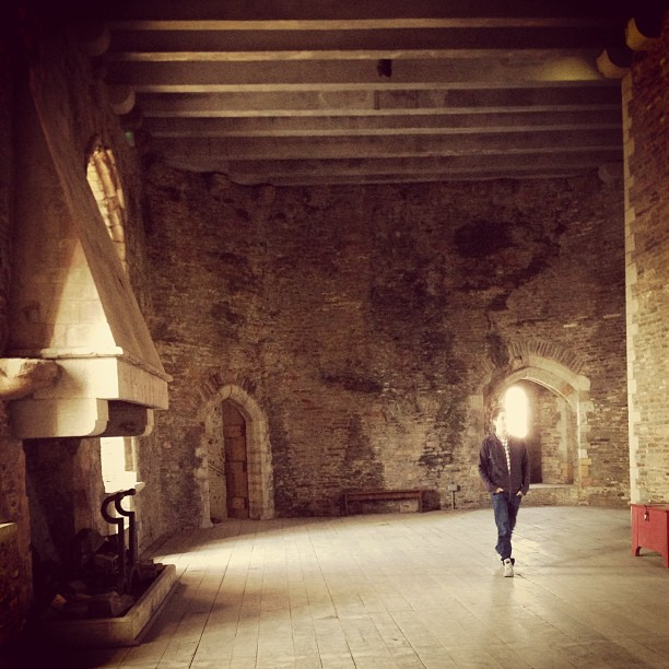 Inside fireplace #castle #wales