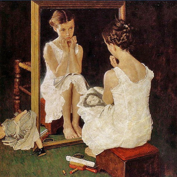 I grew up with this print from #NormanRockwell