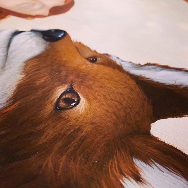 Fox eye see you #fox #painting #lolafineart #wip
