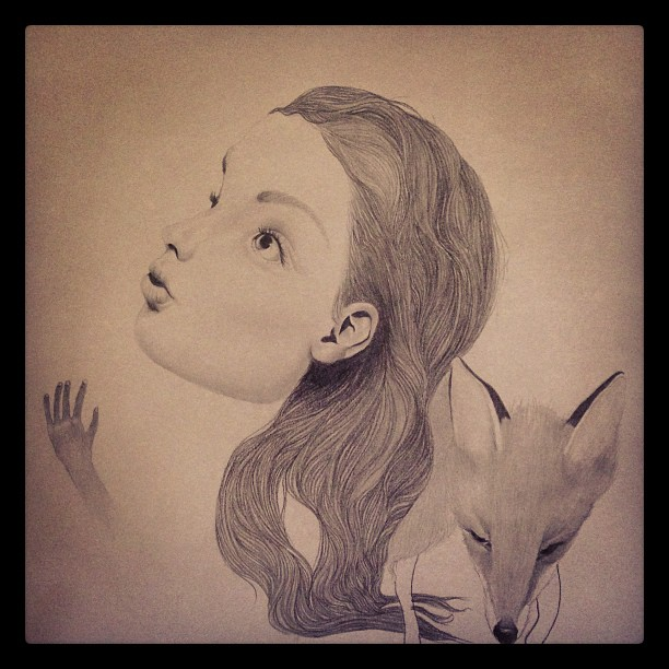 Getting back to this one again #hair #fox #sketching #lolafineart
