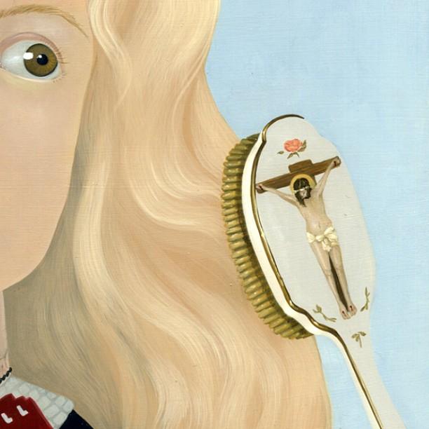 #detail #crucifixion #tinyjesus #jesus #hairbrush :)