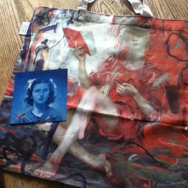 @jamesjeanart tote bag, is absolutely beautiful and all mine (Taken with Instagram)