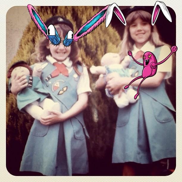 Alex was around during girlscout days #waycooler #flashbackfriday (Taken with Instagram)