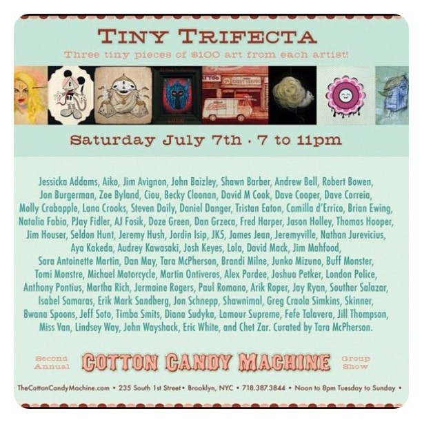 Tonight tiny trifecta! So much affordable art with many great artists!!! (Taken with Instagram)