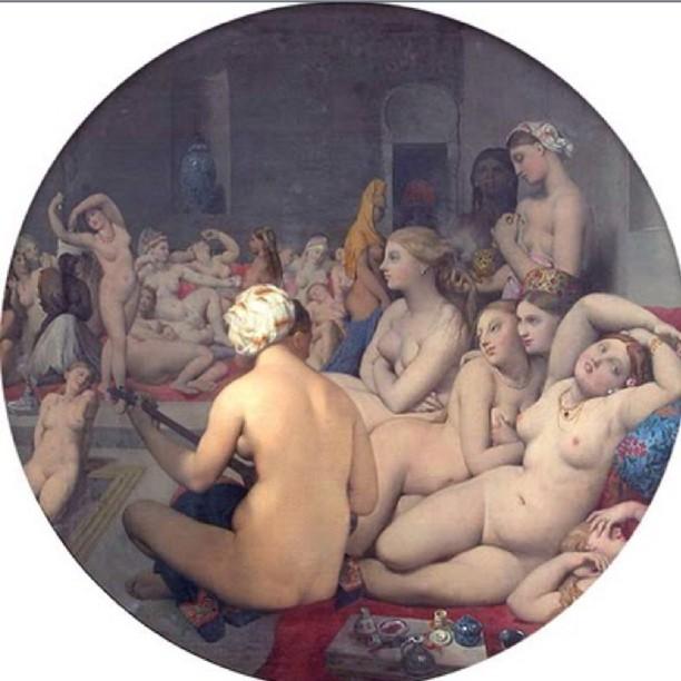 """Jean Auguste Dominique Ingres 1862 """"The Turkish Bath"""" (Taken with instagram)"""