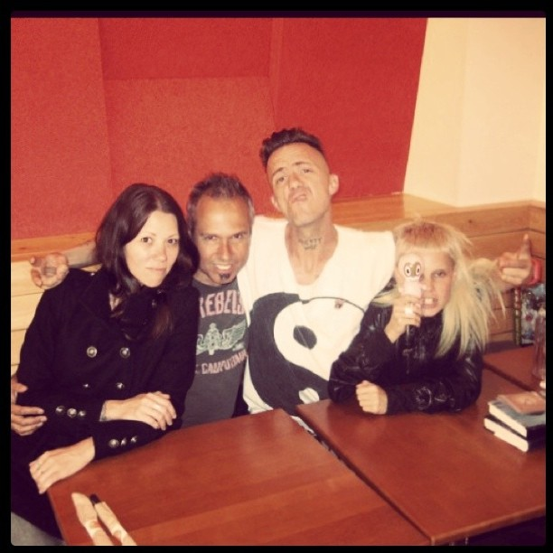 Moons ago with @DieAntwoord and @garybaseman rainy afternoon brunch #flashbackfriday (Taken with instagram)