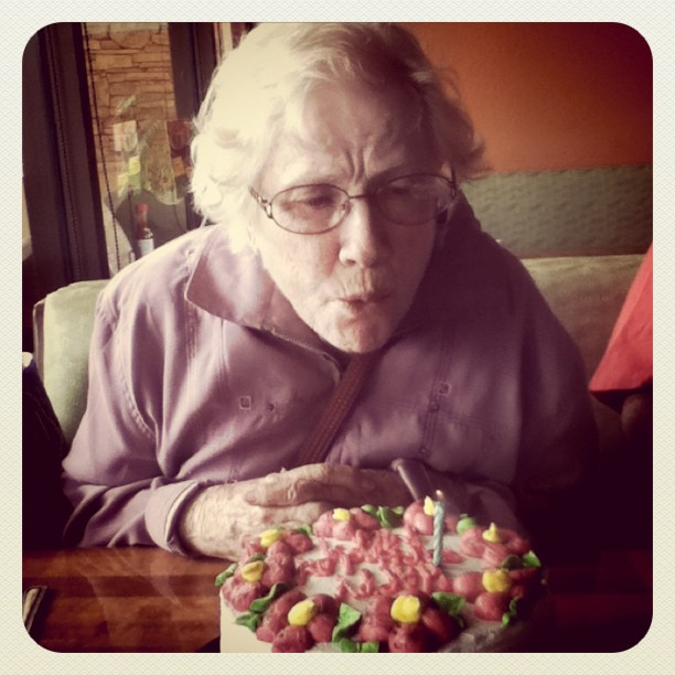 My grandmother turned 85 today!! What an amazing woman and inspiration she's been to me <3 (Taken with instagram)