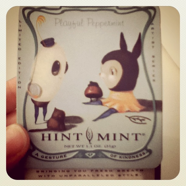 I'm feeling minty! Limited edition tins from @HintMint (Taken with instagram)