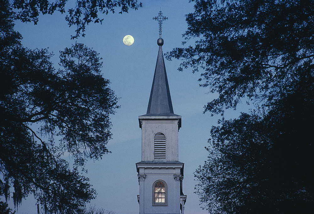 St. Charles Church with Moon