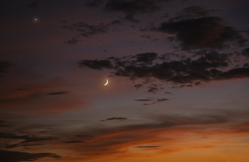 Crescent Moon Sunset