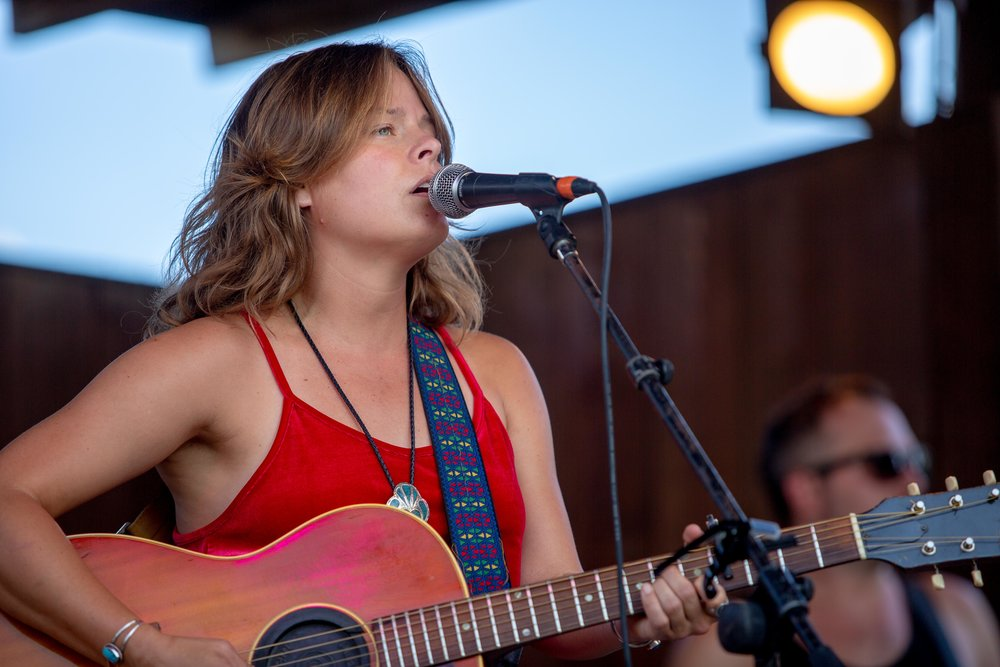 AUSTIN, TX. July 20, 2018. Christy Hays performs at the KUTX Back to the Garden concert series at Threadgill's World HQ. Montinique Monroe for KUTX