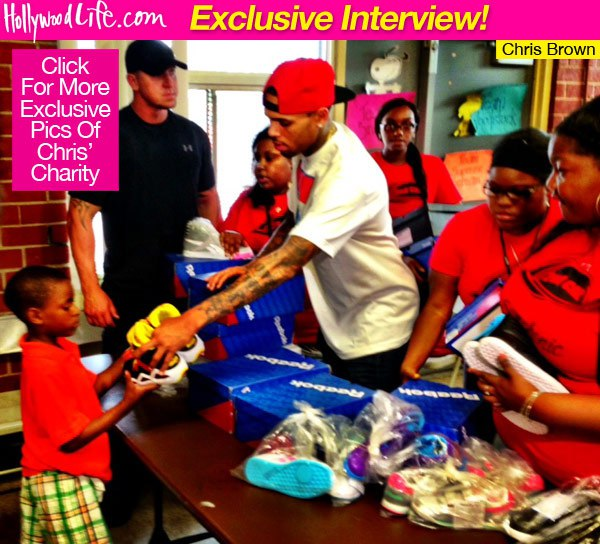 Chris Brown at Symphonic Love Shoe Giveaway