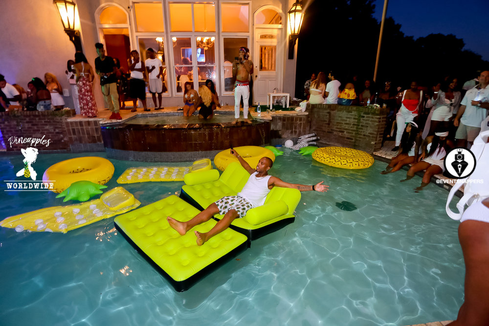 Pineapples Worldwide Wild Thoughts Pool Party