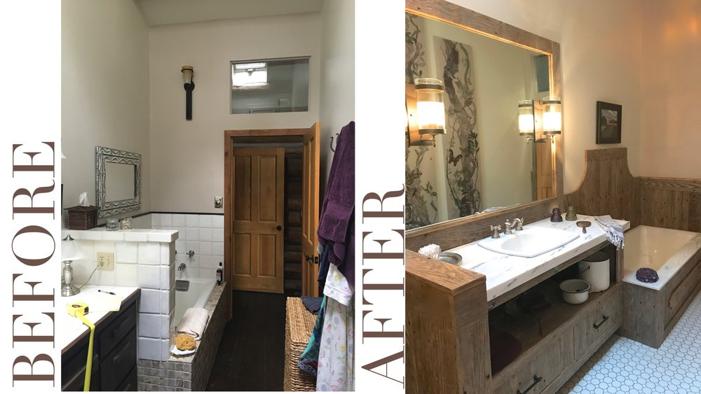 Alexandra Lauren Interiors. Bathroom Design. Reclaimed Wood.  Reclaimed wood in bathroom.