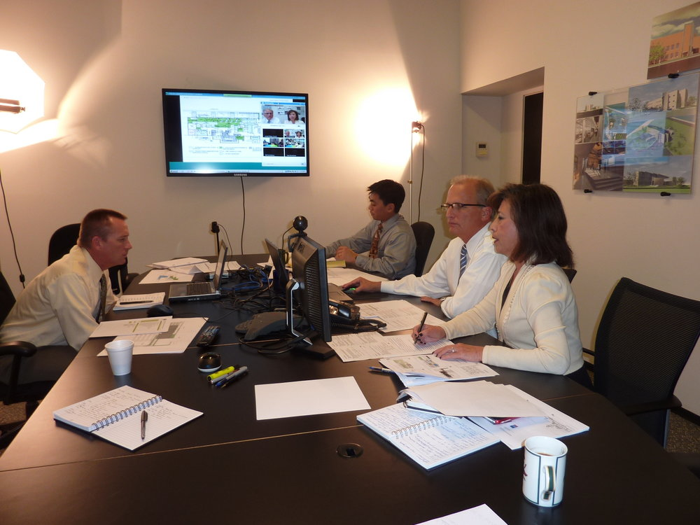 Richter Architects team - conference call