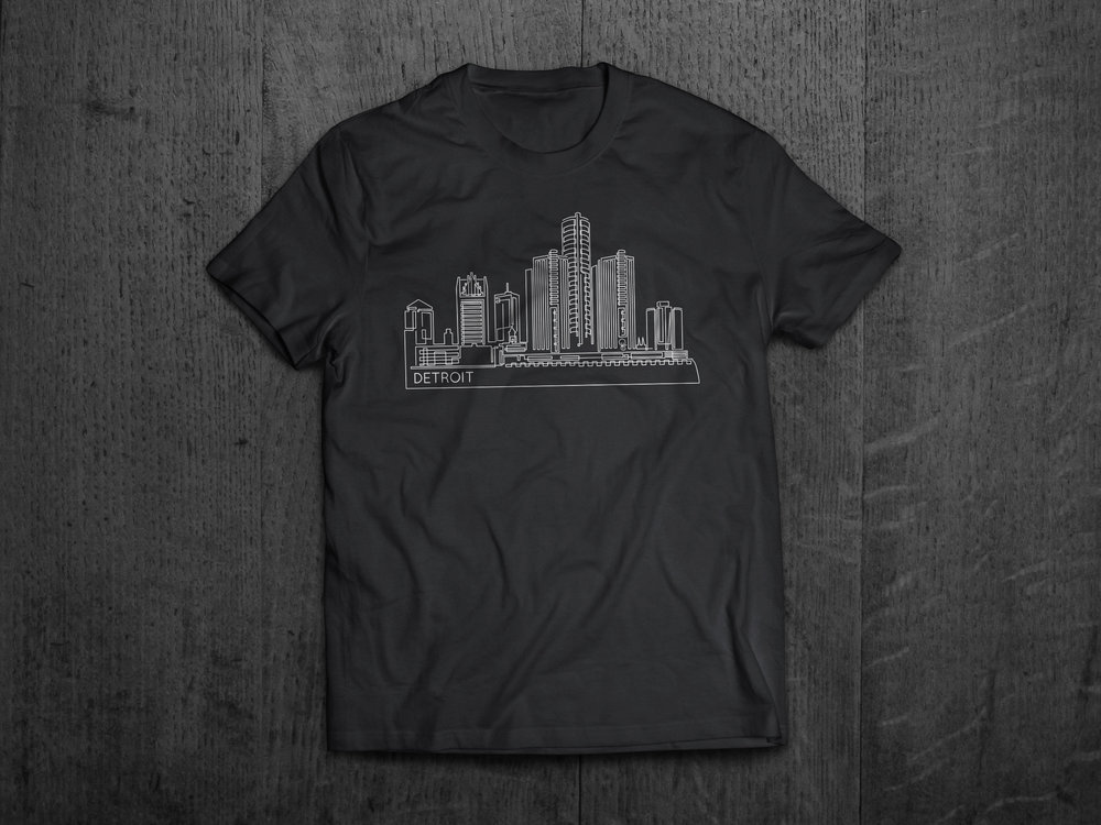 Detroit Skyline Design
