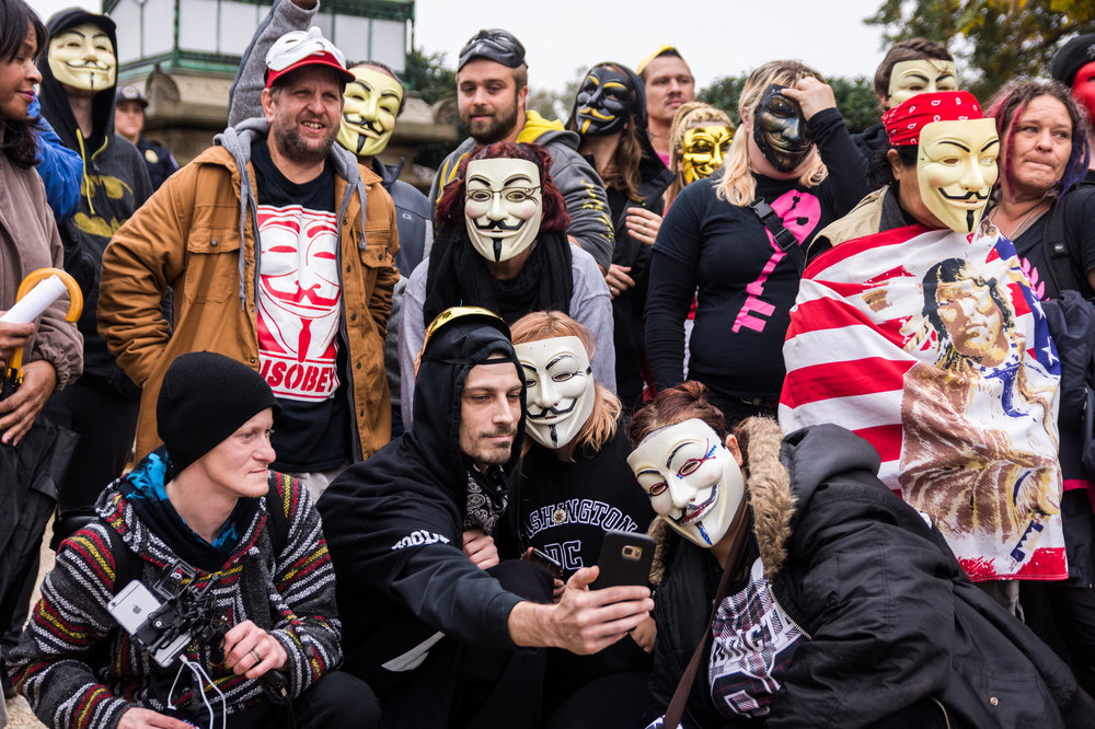 About 50 people attended the 2017 iteration of the Million Mask March, down from previous years.