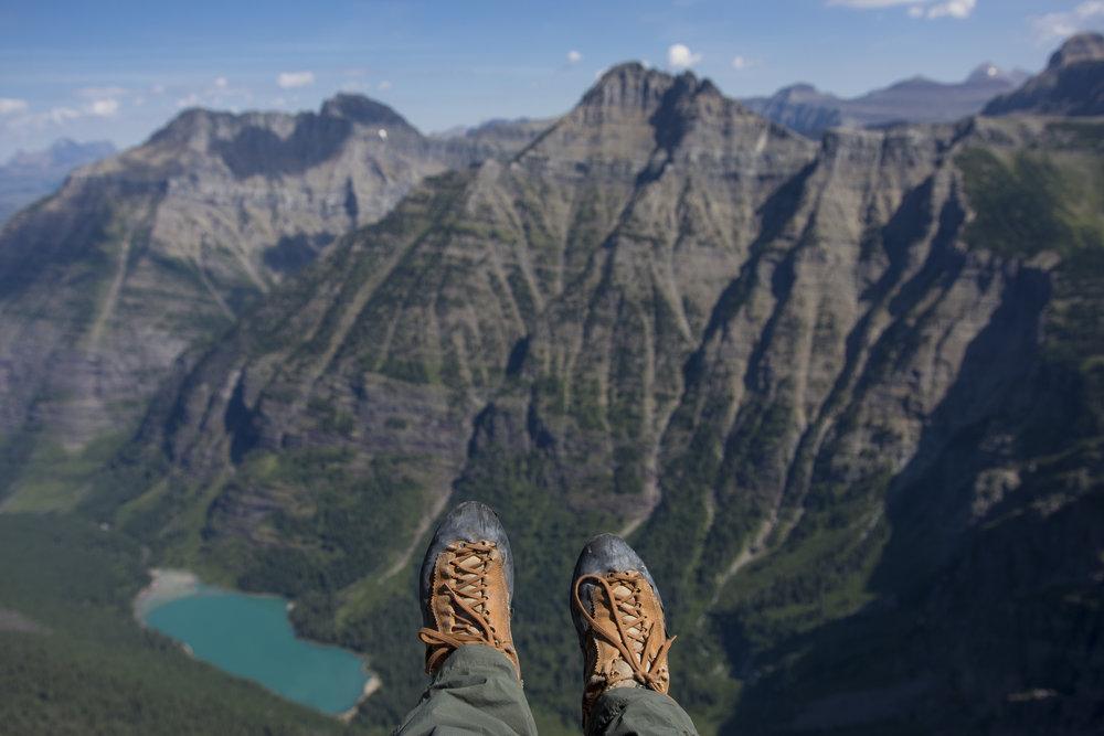Little Matterhorn, big views. Hey La Sportiva, call me! (Little Matterhorn, Glacier National Park, MT.)