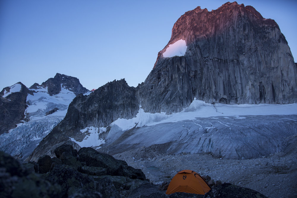 Cold, windy and unbelievably calming. (Snowpatch Spire, Bugaboo Provincial Park, BC.)