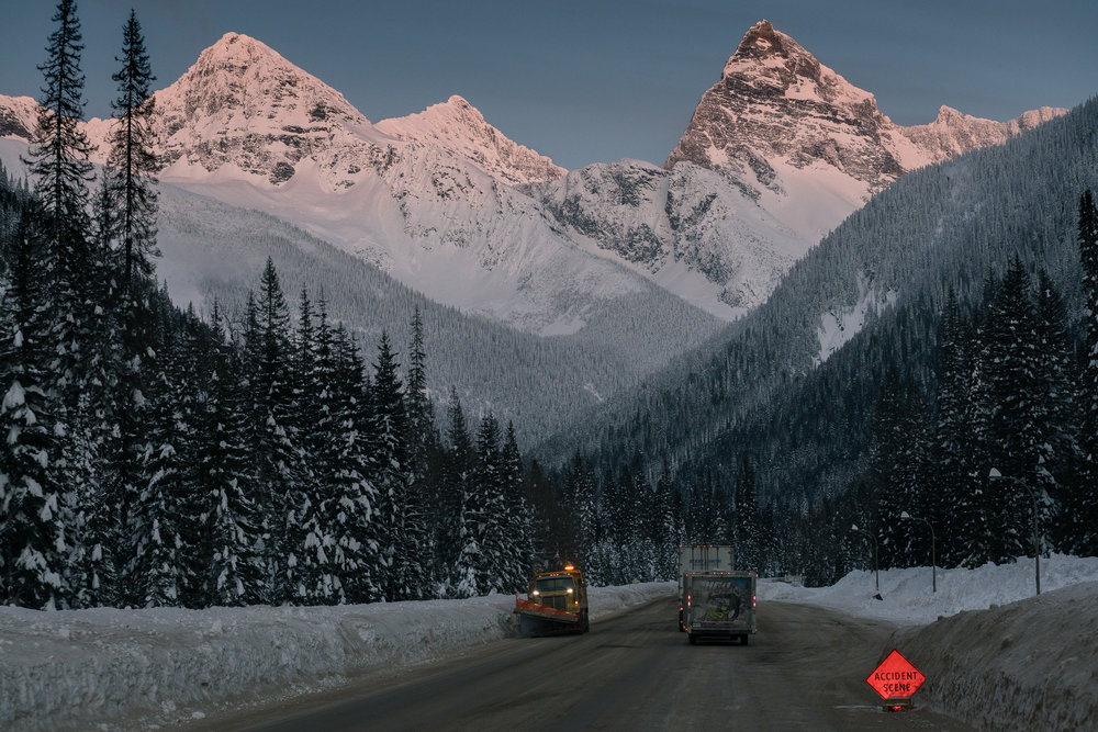 The Gauntlet - Driving Rogers Pass in blizzard conditions is a rite of passage for anyone who makes the pilgrimage to Revelstoke.