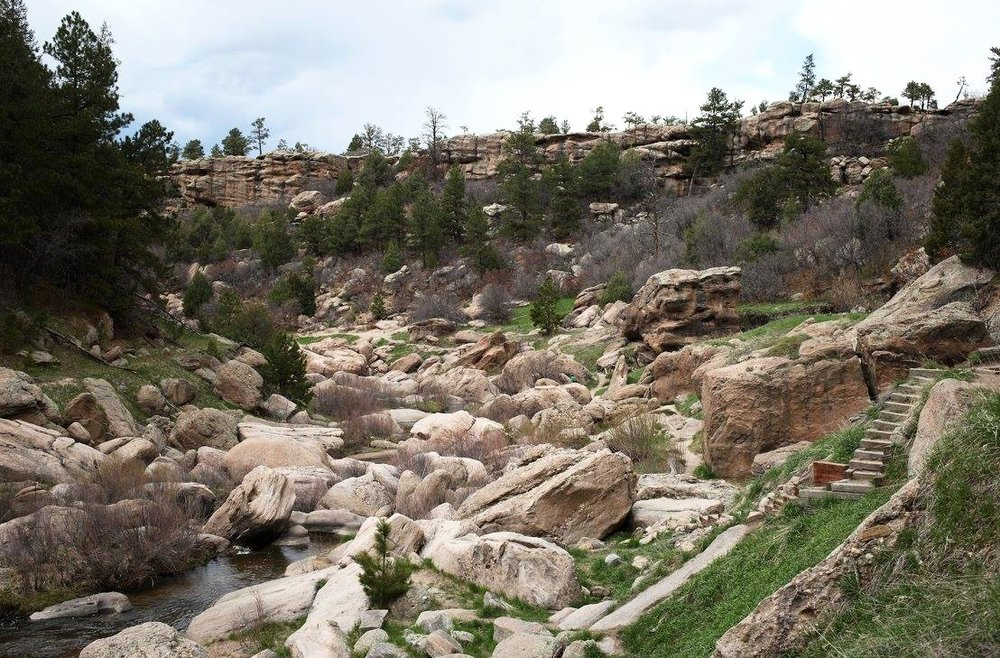 Castlewood Canyon is pretty rad.  Here is a look.