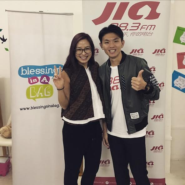 Our Chief of Awesome, Emily, with 88.3JIA FM's Ben!